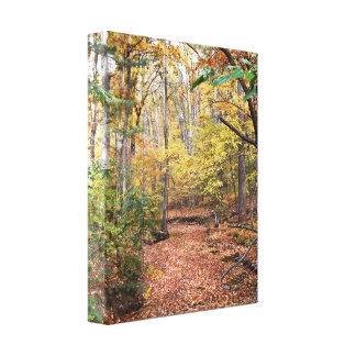 Lona envuelta corriente de oro del otoño impresión en lienzo
