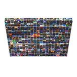 Lona envuelta de la galería 2009 del DB Impresiones En Lienzo Estiradas