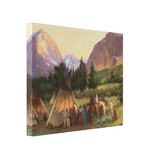 Lona envuelta de Montana 1902 del acampamento Lona Envuelta Para Galerias