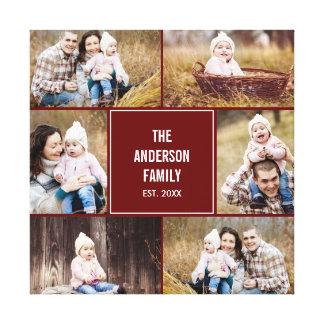 Lona envuelta foto de encargo cuadrada del collage lienzo