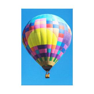 Lona envuelta globo en colores pastel del remiendo lienzo