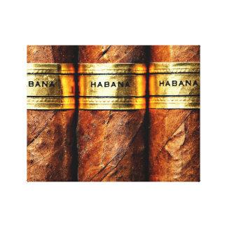 Lona envuelta Habana cubana del cigarro Impresión En Lienzo