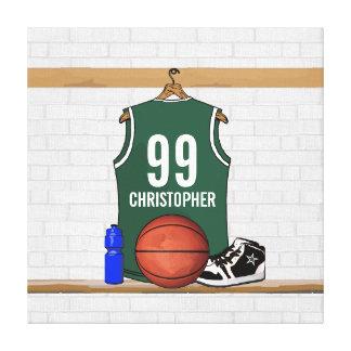 Lona envuelta jersey personalizada del baloncesto impresión en lienzo