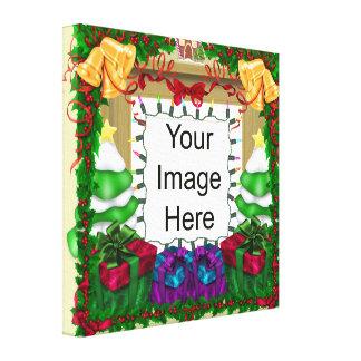 Lona envuelta plantilla de la foto del navidad lona estirada galerías