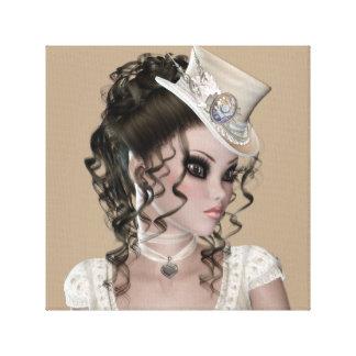 Lona envuelta premio trigueno de la mujer (lustre) impresión en lienzo