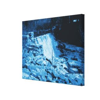 Lona envuelta presa azul del agua del tinte de la impresion en lona