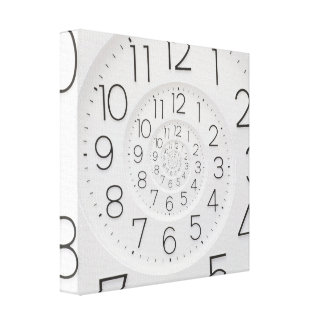 Lona envuelta reloj espiral de Droste del reloj Impresiones De Lienzo