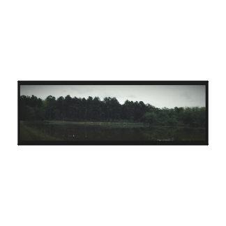 Lona envuelta Veiw horizontal del lago Impresión En Lona Estirada