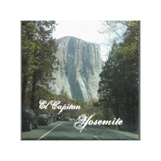 Lona envuelta Yosemite del EL Capitan Lona Envuelta Para Galerias