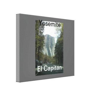 Lona envuelta Yosemite del EL Capitan Lienzo Envuelto Para Galerías