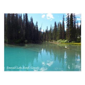 Lona esmeralda del lago postal