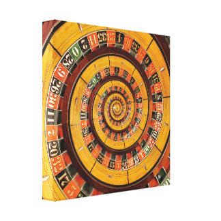 Lona espiral de Droste de la rueda de ruleta Impresiones De Lienzo