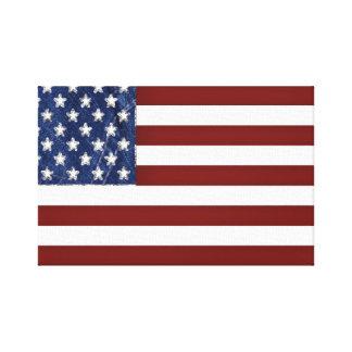 Lona estirada de la bandera americana lienzo