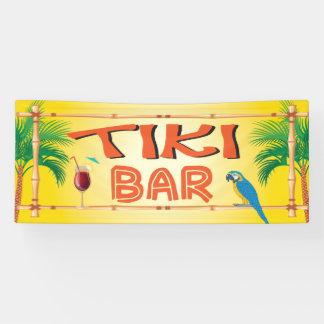 Lona Fiesta tropical de la playa de la barra de Tiki