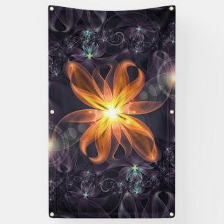 Lona Flor anaranjada hermosa del fractal del lirio de