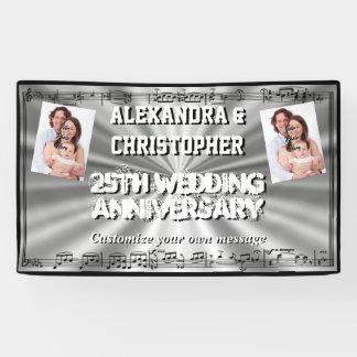 Lona Foto del personalizado del aniversario de bodas de