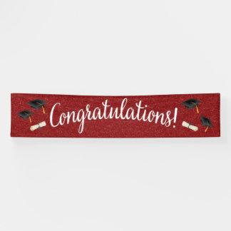 Lona Graduación de la enhorabuena/cualquier bandera de