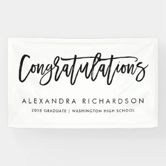 Lona Graduado manuscrito de la enhorabuena el |