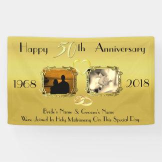 Lona Idea del aniversario del boda 50.o del oro