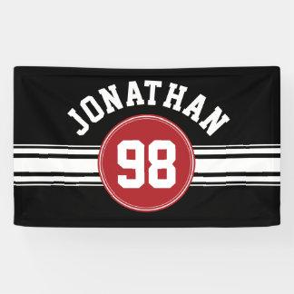 Lona Jersey rojo y negro de los deportes personalizado