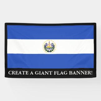 Lona La bandera de El Salvador