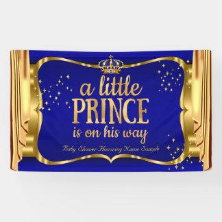 Lona La corona azul del oro del príncipe fiesta de