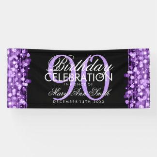 Lona La fiesta de cumpleaños chispea púrpura