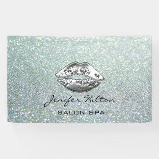 Lona Labios de plata relucientes elegantes modernos