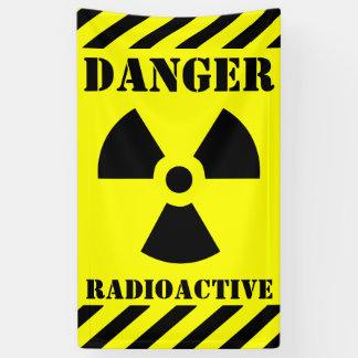 Lona Muestra radiactiva Halloween del peligro