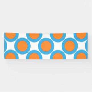 Lona Naranja en punto azul