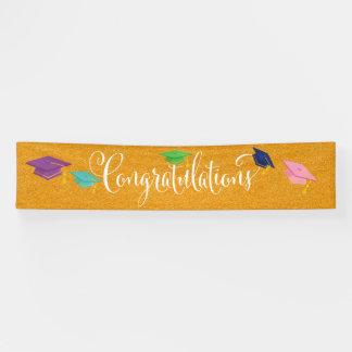 Lona Para la bandera de la graduación de la enhorabuena