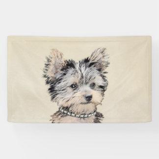 Lona Perrito de Yorkshire Terrier que pinta arte