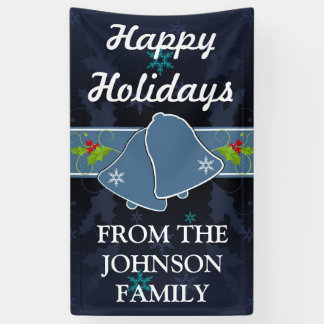 Lona Personalizado azul de Belces de navidad el |