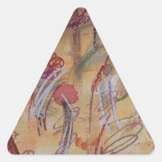Lona pintada a mano pegatina triangular