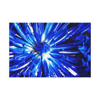 Lona pintada azul de los pétalos lienzo