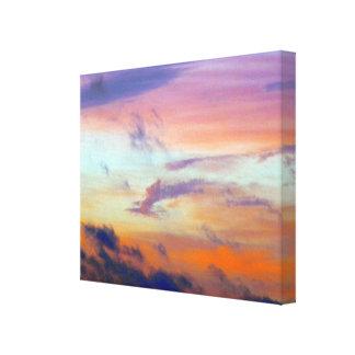 Lona pintada del cielo impresión en lona estirada