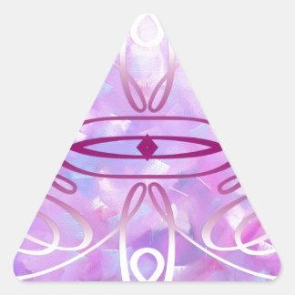 Lona pintada y diseño adornado pegatina triangular