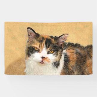 Lona Pintura del gato de calicó - arte original lindo