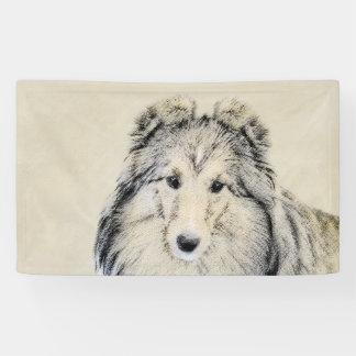 Lona Pintura del perro pastor de Shetland - arte