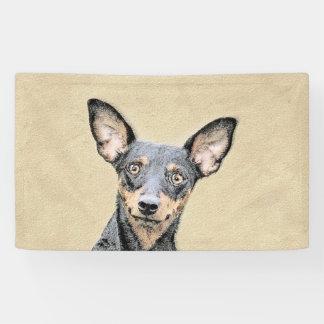 Lona Pintura del Pinscher miniatura - perro original