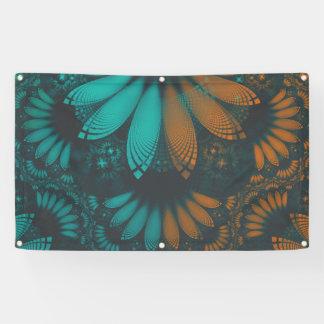 Lona Plumas hermosas del fractal de Paisley del trullo