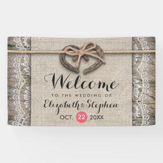 Lona Recepción de madera rústica del boda del cordón de