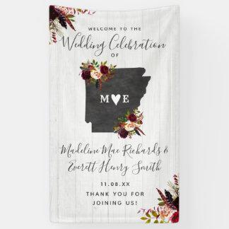 Lona Recepción rústica del boda del destino del estado