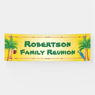 Lona Reunión de familia de la playa de Tiki