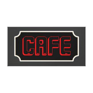 Lona roja de la muestra del café impresiones en lona estiradas