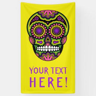 Lona Su día mexicano del cráneo del azúcar del texto de