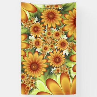 Lona Sueño floral, arte abstracto moderno del fractal