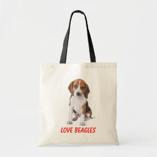 Lona Totebag del perro de perrito de los beagles