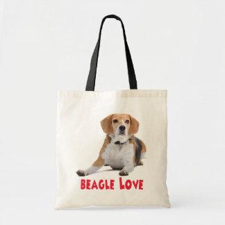 Lona Totebag del perro de perrito de los beagles Bolsa Tela Barata