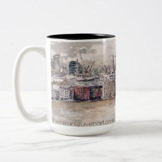 London Mug Taza De Café De Dos Colores